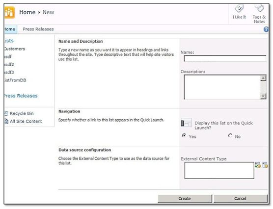 bcs6 First Look at SharePoint 2010 BCS   Business Connectivity Services